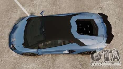 Lamborghini Aventador LP760-4 Oakley Edition v2 para GTA 4 visión correcta