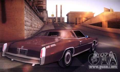 Cadillac Eldorado 1978 Coupe para GTA San Andreas vista posterior izquierda