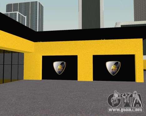 Lamborghini Dealer San Fierro para GTA San Andreas sucesivamente de pantalla