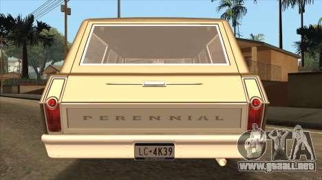 Perennial HD from GTA 3 para GTA San Andreas vista posterior izquierda