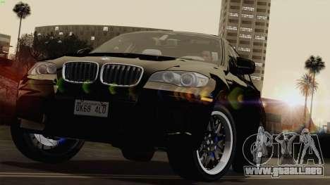 BMW X6M para GTA San Andreas vista hacia atrás