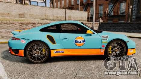 Porsche 911 Turbo 2014 [EPM] Gulf para GTA 4 left