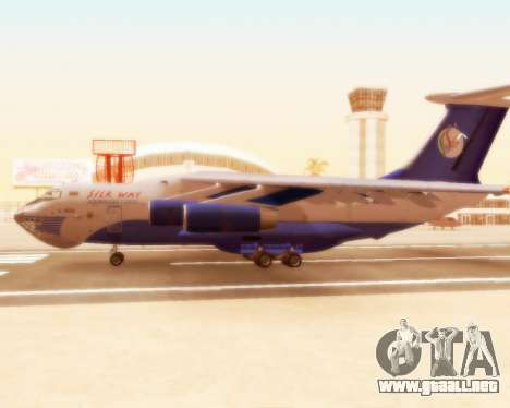 Il-76td Silk Way para GTA San Andreas vista posterior izquierda