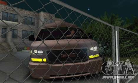 GMC Savana para vista inferior GTA San Andreas