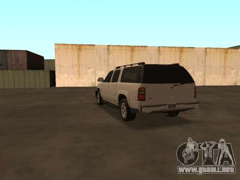 Chevrolet Suburban ATTF para GTA San Andreas vista posterior izquierda