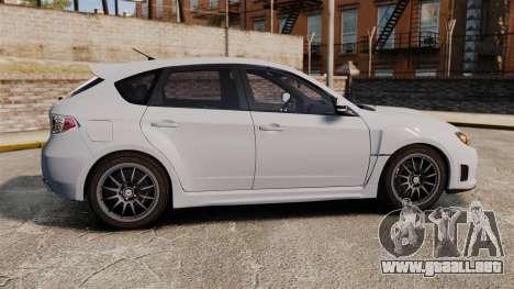 Subaru Impreza Cosworth STI CS400 2010 para GTA 4 left