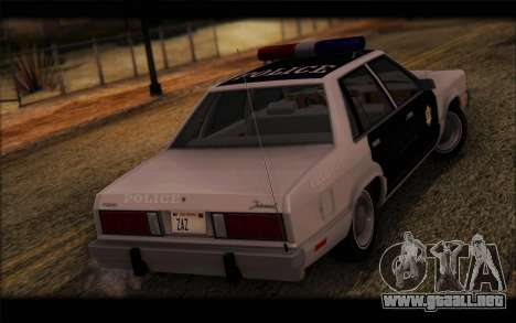 Ford Fairmont 1978 4dr Police para GTA San Andreas left
