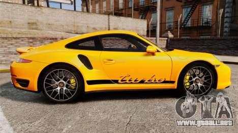 Porsche 911 Turbo 2014 [EPM] Turbo Side Stripes para GTA 4 left