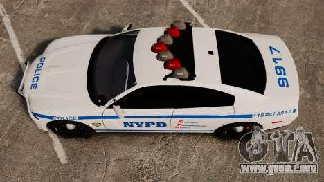 Dodge Charger 2012 NYPD [ELS] para GTA 4 visión correcta
