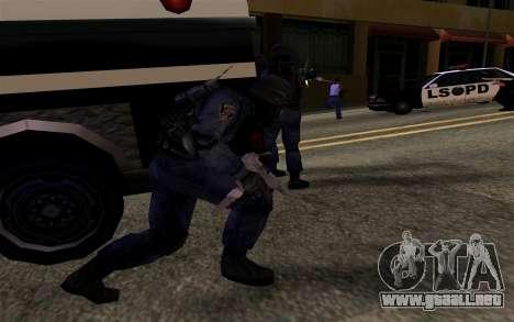 SWAT de Manhunt 2 para GTA San Andreas sucesivamente de pantalla