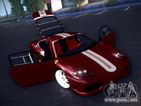 Ferrari 360 Challenge Stradale para la vista superior GTA San Andreas