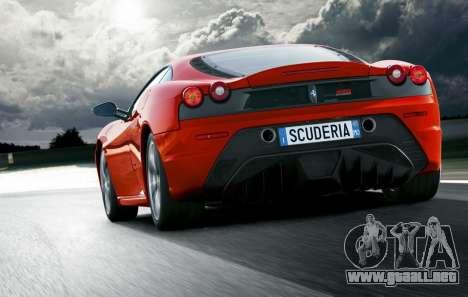 Sonido de un motor de Ferrari para GTA 4 adelante de pantalla