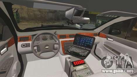 Chevrolet Impala 2008 LCPD STL-K Force [ELS] para GTA 4 vista hacia atrás