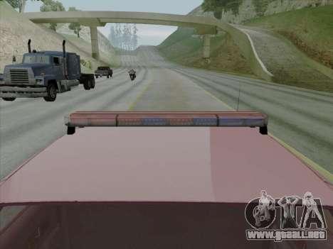 Chevrolet Caprice SFPD 1991 para la visión correcta GTA San Andreas