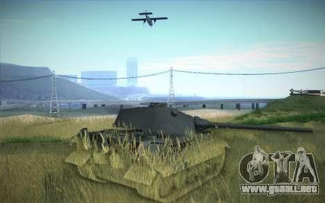 E-75 Tiger III para GTA San Andreas vista hacia atrás