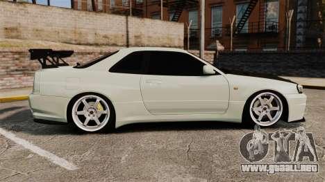 Nissan Skyline GT-R V-Spec II Mk.X [R34] para GTA 4 left