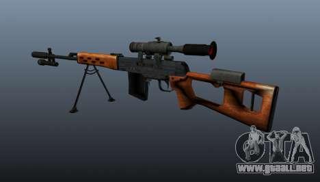 Rifle de francotirador Dragunov A & K para GTA 4 segundos de pantalla