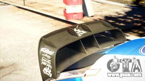Ford Focus RS M Gronholm Rally Finland WRC para GTA 4 vista hacia atrás