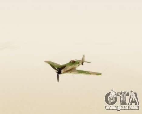 Focke-Wulf FW-190 D12 para GTA San Andreas vista hacia atrás