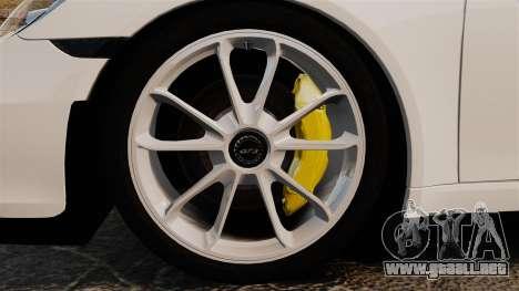 Porsche 911 GT3 (991) 2013 para GTA 4 vista hacia atrás