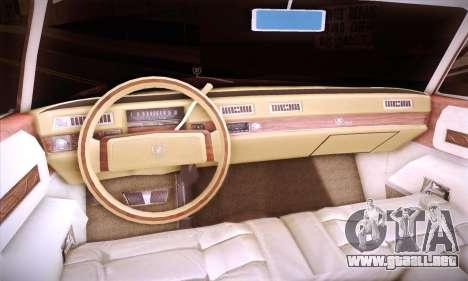 Cadillac Eldorado 1978 Coupe para vista lateral GTA San Andreas