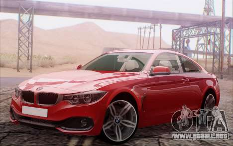 BMW 435i para GTA San Andreas vista posterior izquierda