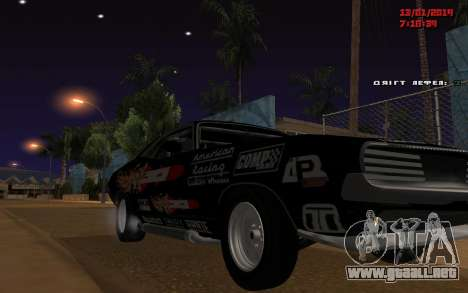 Challenger Missile para GTA San Andreas vista posterior izquierda