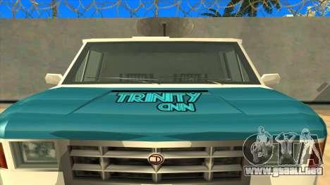 News Van HQ para la visión correcta GTA San Andreas