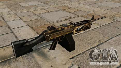 La ametralladora de la ligera M249 Camo para GTA 4 segundos de pantalla