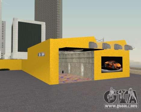 Lamborghini Dealer San Fierro para GTA San Andreas quinta pantalla