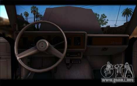 Ford Fairmont 1978 4dr Police para GTA San Andreas vista hacia atrás