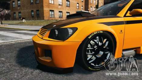 Sultan STI para GTA 4 Vista posterior izquierda