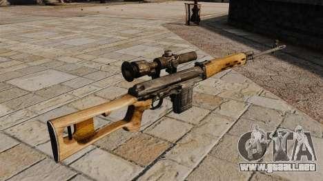 Rifle de francotirador Dragunov para GTA 4 segundos de pantalla