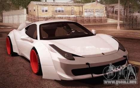 Ferrari 458 Italia Liberty Walk LB Performance para GTA San Andreas