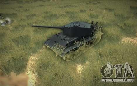E-75 Tiger III para visión interna GTA San Andreas