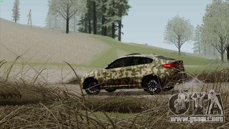 BMW X6M para vista inferior GTA San Andreas