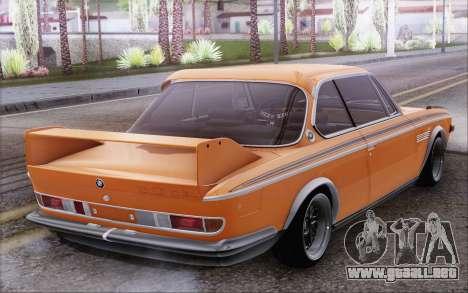 BMW 30 CSL 1971 para GTA San Andreas vista posterior izquierda