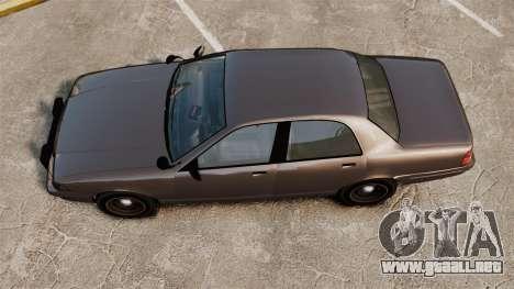 GTA V Unmarked Cruiser Police para GTA 4 visión correcta
