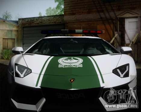 Lamborghini Aventador LP700-4 2012 RCPD V1.0 para visión interna GTA San Andreas