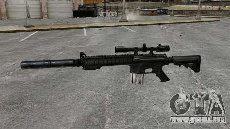 El rifle de francotirador SR-25 para GTA 4 tercera pantalla