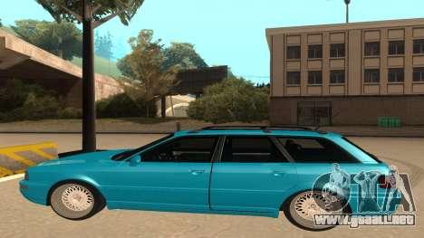 Audi RS2 Avant 1995 para GTA San Andreas vista posterior izquierda