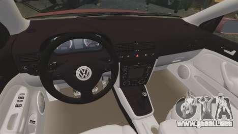 Volkswagen Bora VR6 2003 para GTA 4 vista interior