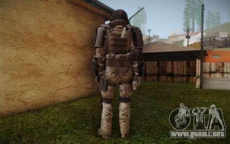 COD MW3 Heavy Commando para GTA San Andreas tercera pantalla