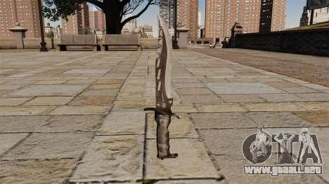 Cuchillo de combate de élite, el Raider de hoja para GTA 4