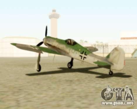 Focke-Wulf FW-190 D12 para GTA San Andreas left