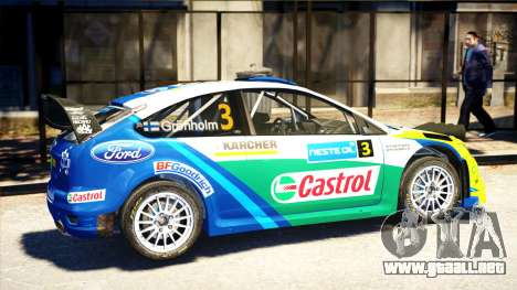 Ford Focus RS M Gronholm Rally Finland WRC para GTA 4 left