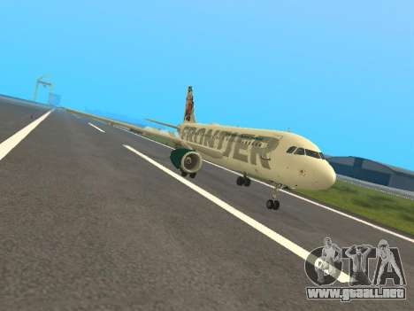 Airbus A319-111 Frontier Airlines Red Foxy para GTA San Andreas left