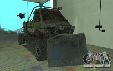 Gacela de la Metro 2033 para GTA San Andreas vista posterior izquierda