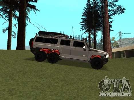 Hummer H3 6x6 para GTA San Andreas vista hacia atrás