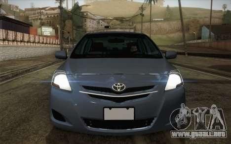 Toyota Vios 2008 para la visión correcta GTA San Andreas